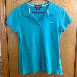 Vineyard Vines turquoise blue polo, Susie fit, med